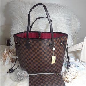 Louis Vuitton neverfull damier tote bag